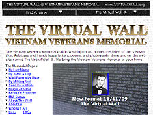 Front Page of The Virtual Wall